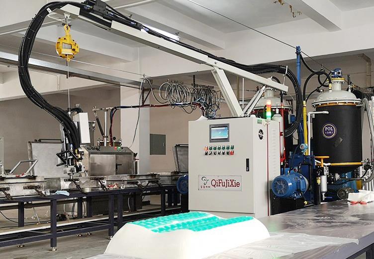 Furniture industry foaming machine